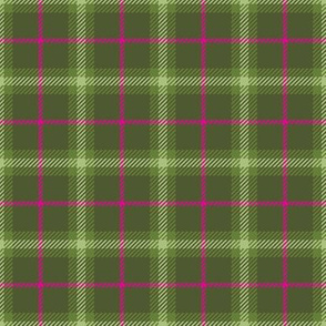 Little Girlie Plaid 143 Olive Pink