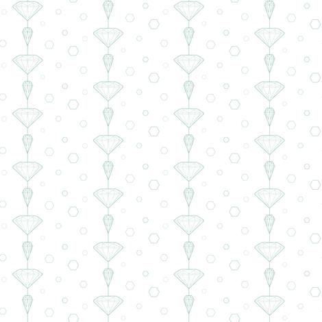 Diamond_lines_white fabric by align_design on Spoonflower - custom fabric