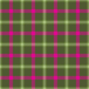 Little Girlie Plaid 147 Olive Pink