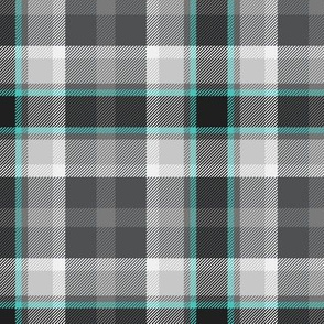 Little Girlie Plaid 186 Grey Turquoise