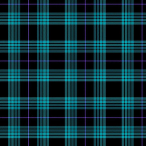 Little Girlie Plaid 212 Blue Violet Black
