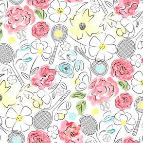Tennis Anyone Floral