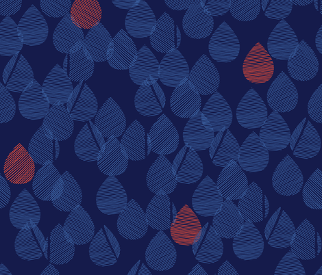 Drops - Indigo fabric by docious_designs_by_patricia_braune on Spoonflower - custom fabric