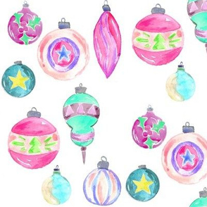 vintage ornaments watercolor