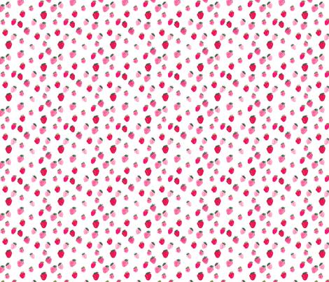 Watercolor strawberries Summer fabric by thislittlestreet on Spoonflower - custom fabric