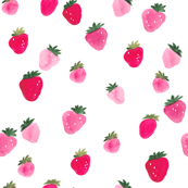 Watercolor strawberries Summer