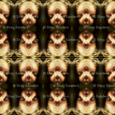 Abstract design background head creepy