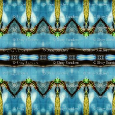 Blue ocean dragon fly #2