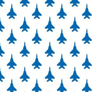 F-15 Eagle Silhouette - Blue