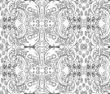 Abstract Thinking fabric by sashasjourney on Spoonflower - custom fabric