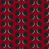 Oreo fabric dark red