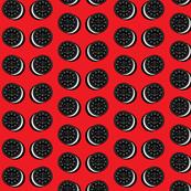 Oreo fabric red