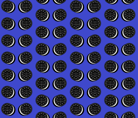 Oreo fabric blue fabric by cityette on Spoonflower - custom fabric