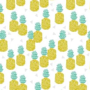 pineapple // sweet tropical block print fruit summer yellow sweet fruits