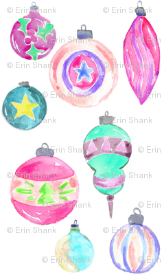vintage ornaments mini