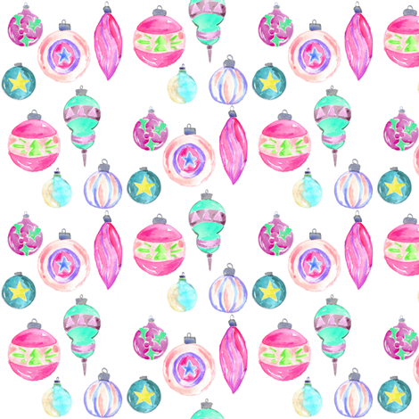 vintage ornaments mini fabric by erinanne on Spoonflower - custom fabric