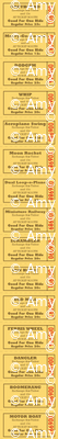 Midway (Yellow) || state fair carnival amusement park vintage retro ride tickets circus typography ephemera