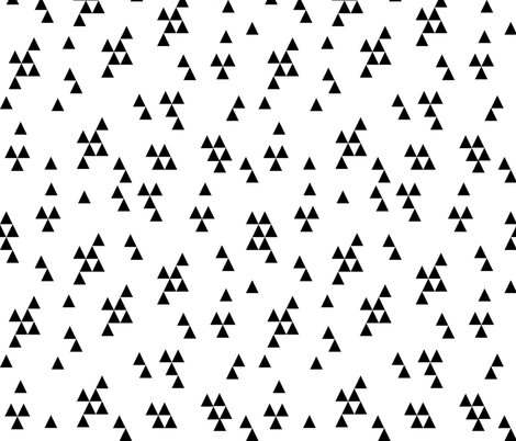 Triangle fabric simple black and white minimal for Black and white childrens fabric