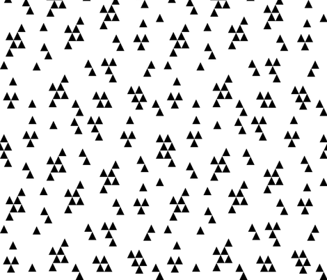triangle fabric  // simple black and white minimal minimalist black and white kids nursery scandi  fabric by andrea_lauren on Spoonflower - custom fabric