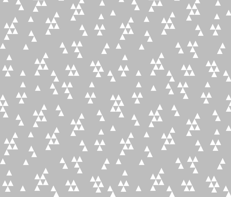 Simple Triangles - Slate Grey by Andrea Lauren fabric by andrea_lauren on Spoonflower - custom fabric