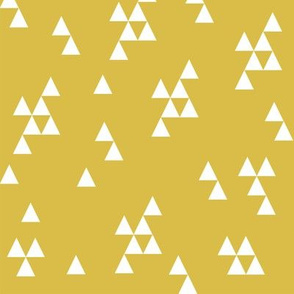 Simple Triangles - Mustard by Andrea Lauren