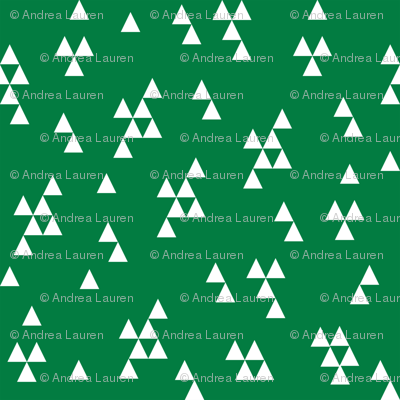 Simple Triangles - Kelly Green by Andrea Lauren
