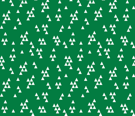 Simple Triangles - Kelly Green by Andrea Lauren fabric by andrea_lauren on Spoonflower - custom fabric