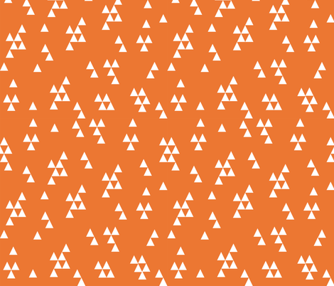 Simple Triangle - Orange by Andrea Lauren fabric by andrea_lauren on Spoonflower - custom fabric
