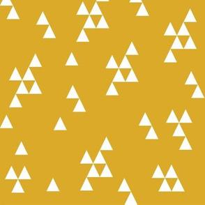 Simple Triangle - Golden Yellow by Andrea Lauren