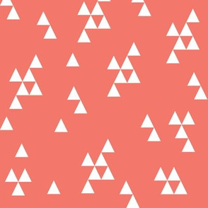 simple triangles // coral triangles triangle coral peach baby nursery girl