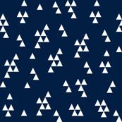 Simple Triangle - Dark Navy by Andrea Lauren