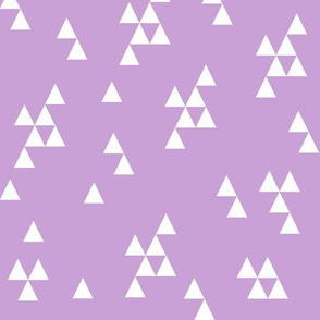 Simple Triangle - Wisteria and White by Andrea Lauren