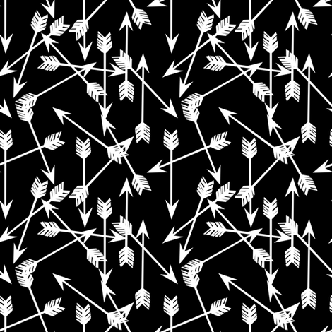 arrows // black and  white nursery small mini version  fabric by andrea_lauren on Spoonflower - custom fabric