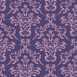 Purple Two Toned Damask