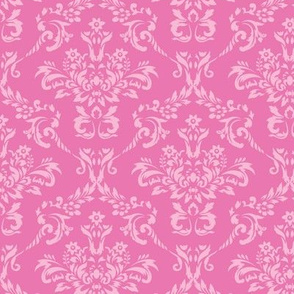 Two Toned Pink Damask