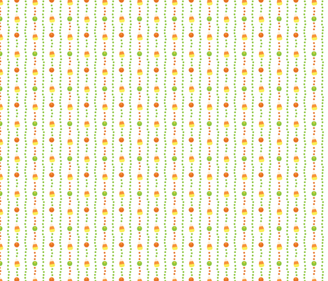 Halloween Candy Corn, Poka Dot Stripes on White fabric by khaus on Spoonflower - custom fabric