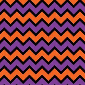 Chevron Purple, Black and Orange