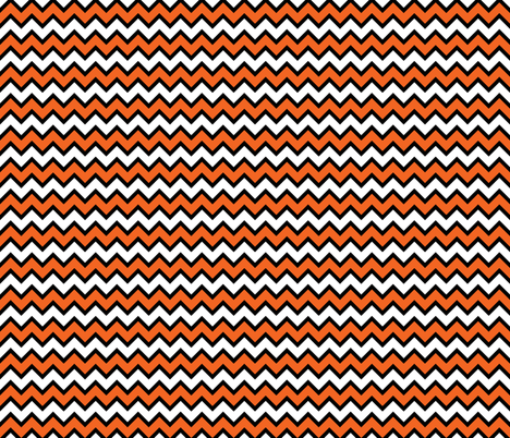 Chevron White, Black and Orange fabric by furbuddy on Spoonflower - custom fabric
