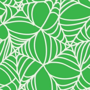 Halloween Spider Web on Green