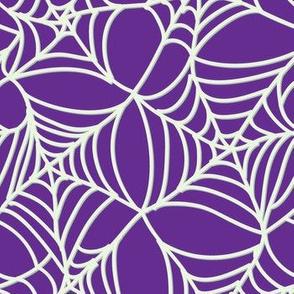 Halloween Spider Web on Purple