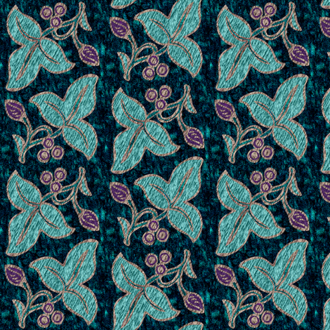 Half-drop-NEW2sprigs2014-2015-9sept14-4in-200-embroidery-STONE-INLAY fabric by mina on Spoonflower - custom fabric