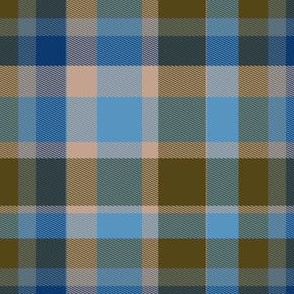 Classic Blue and Brown Plaid