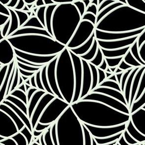 Halloween Spider Web on Black