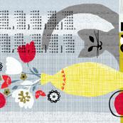 2017 still life w/ cat tea towel calendar-grey