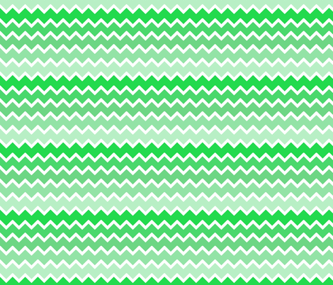 Mint Green Ombre Chevron Zigzag Pattern Fabric By Decamp Studios On Spoonflower