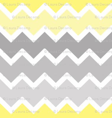 yellow grey gray ombre chevron zigzag pattern