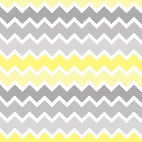 yellow grey gray ombre chevron zigzag pattern fabric ...