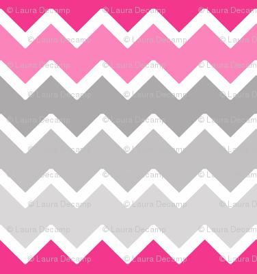 hot pink grey gray ombre chevron zigzag pattern wallpaper ...