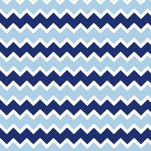 navy sky blue chevron zigzag pattern