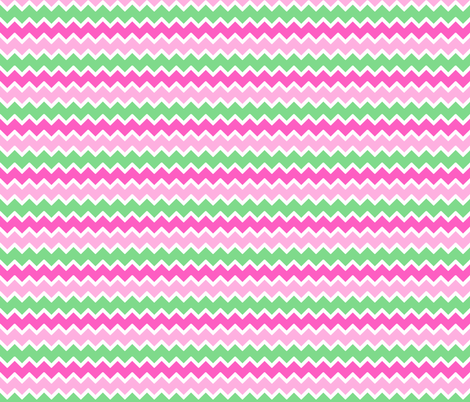 Hot Pink Pastel Mint Green Chevron Zigzag Pattern Fabric By Decamp Studios On Spoonflower